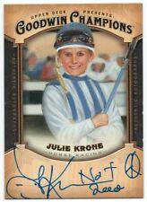 2014 Upper Deck Goodwin Champions Autographs A-JK Julie Krone G Auto