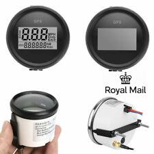Waterproof 52mm GPS Digital 0-999 Knots Speedometer Gauge Car Motorcycle Marine