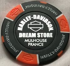 Harley-Davidson® Dream Store in Mulhouse, France Collector Poker Chip Blck/Ornge