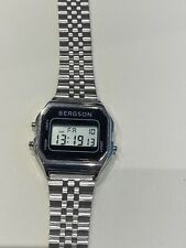 Stylish Retro Bergson Digital Unisex Watch NEW Stainless Steel BARGAIN RRP £40+