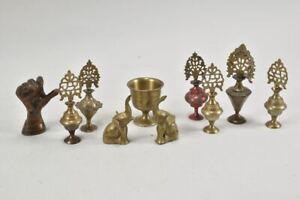 a60h18- Konvolut Bronze & Messing Zierobjekte, ua Elefanten