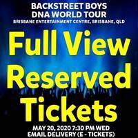 BACKSTREET BOYS | BRISBANE | FULL VIEW TICKETS | WED 20 MAY 2020 7:30PM