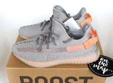 66de7a84069b4 Adidas Yeezy Boost 350 V2 True Form Grey Orange UK 3 4 5 6 7 8