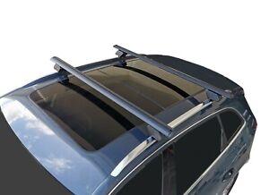 Alloy Roof Rack Cross Bar for Audi Q5 2008-17 8R Lockable 135cm Black