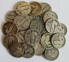 (1) Standing Liberty Quarter CULL Coin / 90% SILVER / 1916-1930 / Old US Coins