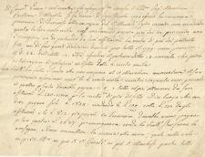 Lettera Agevolazioni Tasse Patrimonio Marchesa Bellone Altavilla Gambarana 1798