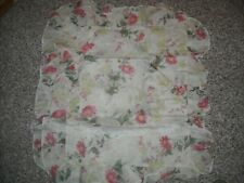 STANDARD PILLOW SHAMS set of 2 off white Floral design new