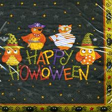 HALLOWEEN Costume Owls LUNCH NAPKINS (16) ~ Birthday Party Supplies Serviettes