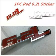 Red 6.2L Metal Side Rear Emblem For Chevy Camaro SS Trunk Fender Badge Stickers