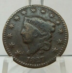 1827 One Cent - 1C United States Coronet Head Large Cent - G401