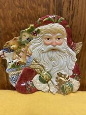 Fitz and Floyd Winter Holiday Christmas Santa Cookie Food Serving Plate 9�x10�