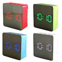 Despertador Digital LED - Temperatura - Modo Nocturno - Pantalla De Espejo