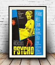 Psycho  ,  Vintage thriller Movie advert  poster reproduction.