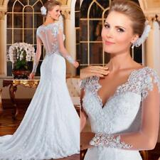 Vestido De Novia 2017 Full Lace Wedding Dresses Sheath Formal Long Sleeves Gowns