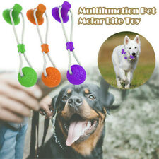 Pet Molar Bite Toy Multifunction Floor Suction Cup Cat Puppy Dog Toy With Ball