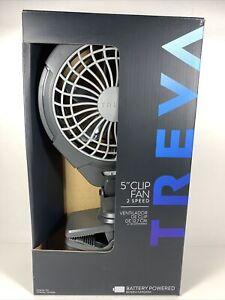 "Treva 5"" Clip Fan Battery Powered With Two Spends Adjustable Tilt Swivel NEW"