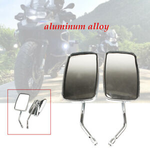 2PC Aluminum Motorcycle Reflector 10mm Positive Wire Large Field Rearview Mirror