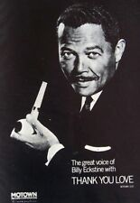 BILLY ECKSTINE 1968 vintage POSTER ADVERT THANK YOU LOVE motown