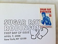 Sugar Ray Robinson FDC First Day Issue USA Stamp 2006 w/ Souvenir Program