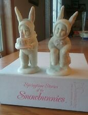 "Snowbunnies ""Happy Birthday to You"" 2 pieces in Original Box Department 56"