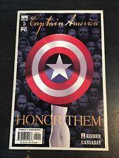 Captain America#5 Incredible Condition 9.0(2002) 1st Anniversary 9/11