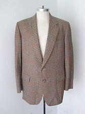 Groovy Vegas Baby Vtg 70s Brown Gray Plaid Disco Pimp Blazer Sportcoat Jacket Xl