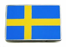 Swedish Flag Belt Buckle Sweden Nordic Cross Patriotic Authentic Product