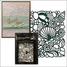 COUTURE CREATIONS Embossing Folders COLLECTING SEASHELLS folder CO724672