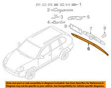 PORSCHE OEM Cayenne Liftgate Tailgate Hatch-Tail Gate Molding 95851295501041