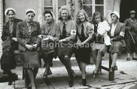 WW2 Picture Photo 1945 Captured German Nurses 3269