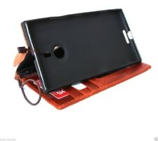 genuine Leather case for Nokia Lumia 1520 book Wallet cover thin cards slots new