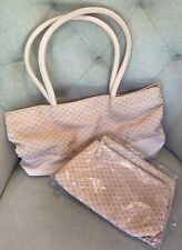 Avon 2-pc Cosmetic Bag Set Pch w/Slvr Dots Orgnzr w/Matching Tote NEW Mk-Up 2005