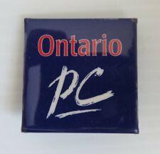 VINTAGE ONTARIO PC POLITICAL PIN PINBACK BUTTON           (INV23224)