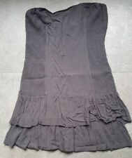 robe grise bustier 36 / S
