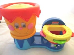 Fisher Price Drum and Tambourine Music Set. Requires 3 AA Batteries Pre-owned.