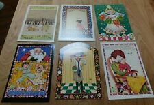 Vtg Lot of 6 Mary Engelbreit Christmas Greeting Cards Holiday Assortment 5x7 ""