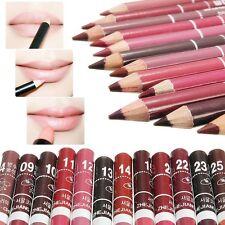 12Stk Farben Lippenstift Lippenkontur Lipliner Pen Bleistift Make-up Wasserdicht
