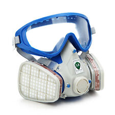 [BEST QUALITY] Silicone Full Face Respirator Gas Mask & Goggles  Paint Chemicals