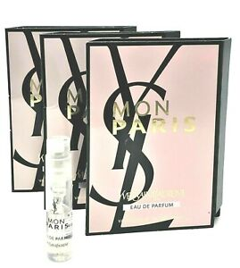 Yves Saint Laurent YSL Mon Paris .04oz 1.2ml Eau De Parfum NEW Spray Vials x 3