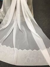 Beautiful WHITE Sheer Curtain Voile-Amalfi 213 cm drop Rod Pocket Cornelli Hem