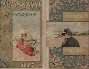 A. Mestres 1893 Barcelona original period cromolithograph print Woman Beach dog