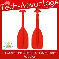 2 X TELESCOPIC MICRO 0.5~1.07M COMPACT KAYAK BOAT CANOE OARS PADDLES