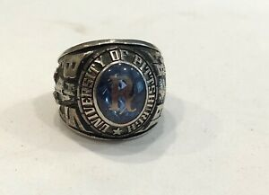 WOW----UNIVERSITY OF PITTSBURGH ,1983, 10K WHITE GOLD PHARMACOLOGY CLASS RING
