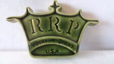 Robinson Ransbottom Pottery USA 1900-2000 Green Crown Paper Weight #J284.
