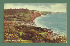 1952 POSTCARD SIDMOUTH FROM PEAK HILL - VALENTINE'S