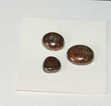 Boulder Opal Cabochon Free Form from Australia Set of 3 (4350)