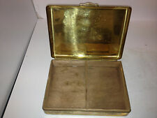 GENUINE ANTIQUE BRASS STATE EXPRESS CIGARETTES BOX .GREAT COLLECTABLE