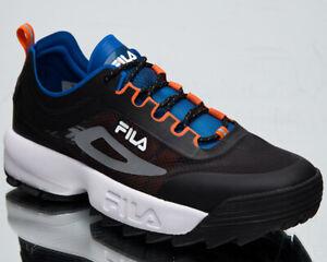 Fila Disruptor Run CB Men's Black Olympian Blue White Lifestyle Sneakers Shoes