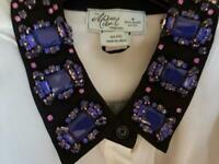 Kate Spade New York MADISON AVE COLLECTION SILK JEWEL EMBELLISHED TOP XXL NWOT