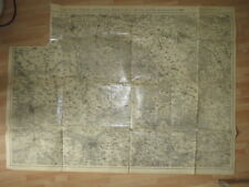 7. Division Landkarte Karte für Manöver 1907 Gegend Leipzig Halle Wurzen ...